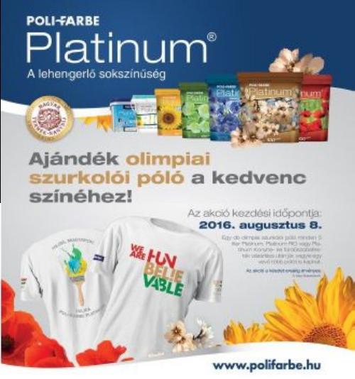 Ajándék olimpiai szurkolói póló minden 5L Platinumhoz